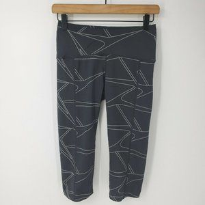 Oiselle KC Satellite Black Cropped Leggings sz 2